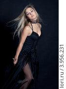 Девушка в чёрном платье. Стоковое фото, фотограф Масюк Светлана / Фотобанк Лори