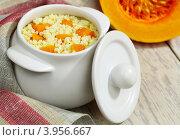 Купить «Пшенная каша с тыквой», фото № 3956667, снято 18 октября 2012 г. (c) Надежда Мишкова / Фотобанк Лори
