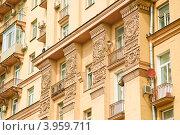 Купить «Архитектура Сталинского дома», эксклюзивное фото № 3959711, снято 26 июня 2012 г. (c) Алёшина Оксана / Фотобанк Лори