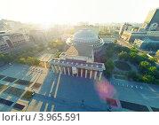 Купить «Город Новосибирск с вертолета», фото № 3965591, снято 10 июня 2012 г. (c) Александр Маркин / Фотобанк Лори