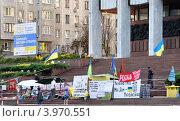 Купить «Оппозиция на Крещатике», эксклюзивное фото № 3970551, снято 7 августа 2012 г. (c) Голованов Сергей / Фотобанк Лори