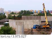 Строительство железобетонных опор моста. Стоковое фото, фотограф Роберт Ивайсюк / Фотобанк Лори