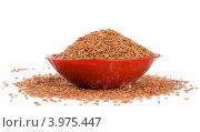 Купить «Чашка с красным рисом на белом фоне», фото № 3975447, снято 27 октября 2012 г. (c) Александр Лычагин / Фотобанк Лори
