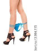 Купить «Женские ноги с голубыми трусиками», фото № 3984115, снято 22 марта 2011 г. (c) Сергей Сухоруков / Фотобанк Лори