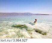 Соляные образования на побережье Мертвого моря (2012 год). Стоковое фото, фотограф Антон Куделин / Фотобанк Лори