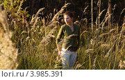 Девушка на закате. Стоковое фото, фотограф Дмитрий Коробов / Фотобанк Лори