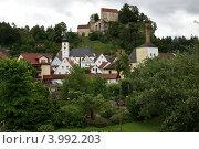 Вид на замок Поттенштайн (2012 год). Стоковое фото, фотограф Оскар Митревиц / Фотобанк Лори