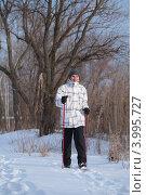 Купить «Скандинавская ходьба», фото № 3995727, снято 29 января 2012 г. (c) Stockphoto / Фотобанк Лори