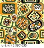 Купить «Бесшовный абстрактный геометрический фон», иллюстрация № 3997035 (c) Инна Грязнова / Фотобанк Лори