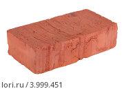 Купить «Красный кирпич, изолировано на белом фоне», фото № 3999451, снято 6 ноября 2012 г. (c) Игорь Долгов / Фотобанк Лори