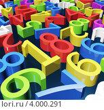 Разноцветные цифры. Стоковая иллюстрация, иллюстратор Онищенко Виктор / Фотобанк Лори