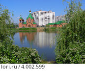 Купить «Церковь Всех Святых в земле Российской просиявших в Новокосино. Москва», эксклюзивное фото № 4002599, снято 5 июня 2012 г. (c) lana1501 / Фотобанк Лори