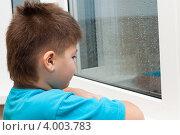 Купить «Мальчик смотрит в окно», фото № 4003783, снято 9 ноября 2012 г. (c) Володина Ольга / Фотобанк Лори