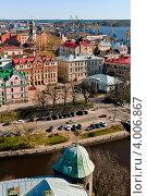 Выборг с башни Олафа (2012 год). Стоковое фото, фотограф Елена Бабаина / Фотобанк Лори