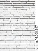 Купить «Старая кирпичная стена, окрашенная в белый цвет», фото № 4008847, снято 17 августа 2012 г. (c) Роман Сигаев / Фотобанк Лори