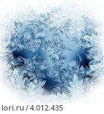 Купить «Замерзшее окно, зимний фон», иллюстрация № 4012435 (c) ElenArt / Фотобанк Лори