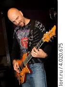Купить «Гитарист Христо Кирилов», эксклюзивное фото № 4020675, снято 13 октября 2012 г. (c) Андрей Дегтярёв / Фотобанк Лори