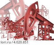 Купить «Нефтекачалка, добыча нефти 3d», иллюстрация № 4020851 (c) Дудакова / Фотобанк Лори