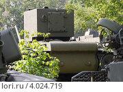 Купить «Танк КВ-2 в Центральном музее Вооруженных сил (ЦМВС), вид сзади», фото № 4024719, снято 13 июля 2012 г. (c) Малышев Андрей / Фотобанк Лори