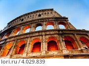 Купить «Вечерний Колизей. Рим. Италия», фото № 4029839, снято 25 октября 2012 г. (c) Екатерина Овсянникова / Фотобанк Лори