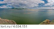 Купить «Вид сверху на слияние рек Енисей и Абакан, панорама», фото № 4034151, снято 24 сентября 2018 г. (c) Nikitin / Фотобанк Лори