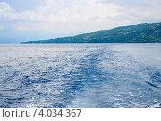 Купить «Филиппины. Морской пейзаж с островом Себу», фото № 4034367, снято 10 мая 2012 г. (c) Сергей Дубров / Фотобанк Лори
