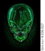 Пришелец. Стоковая иллюстрация, иллюстратор Андрей Воскресенский / Фотобанк Лори