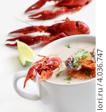 Суп с морепродуктами. Стоковое фото, фотограф Tatjana Baibakova / Фотобанк Лори