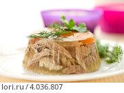 Купить «Заливное из мяса», фото № 4036807, снято 20 ноября 2012 г. (c) Peredniankina / Фотобанк Лори