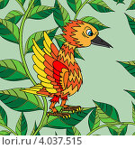 Купить «Бесшовный рисунок с птицей», иллюстрация № 4037515 (c) Катыкин Сергей / Фотобанк Лори