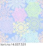 Купить «Бесшовный фон из цветных снежинок», иллюстрация № 4037531 (c) Катыкин Сергей / Фотобанк Лори