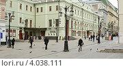 Купить «Вид на Московский Художественный театр имени А.П.Чехова г.Москва», фото № 4038111, снято 24 марта 2011 г. (c) Александр Шуть / Фотобанк Лори