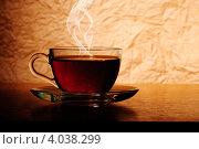 Купить «Чашка с горячим чаем», фото № 4038299, снято 22 января 2011 г. (c) Оксана Ковач / Фотобанк Лори