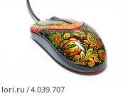 Компьютерная мышь, расписанная под хохлому (2012 год). Редакционное фото, фотограф Сергей Кобелев / Фотобанк Лори