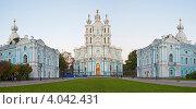 Купить «Санкт-Петербург. Смольный собор.», эксклюзивное фото № 4042431, снято 16 сентября 2012 г. (c) Литвяк Игорь / Фотобанк Лори