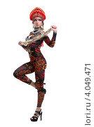 Купить «Сексуальная русская девушка с длинной косой», фото № 4049471, снято 28 октября 2012 г. (c) Гурьянов Андрей / Фотобанк Лори