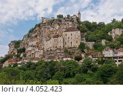 Средневековый город Рокамадур,Франция (2012 год). Стоковое фото, фотограф Екатерина Рыжова / Фотобанк Лори