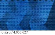 Всплывающая кнопка enter на фоне бегущих цифр. Стоковое видео, видеограф Yaroslav Bokotey / Фотобанк Лори