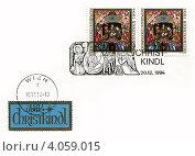 Купить «Праздник Рождества Христова на почтовых изданиях Австрии», иллюстрация № 4059015 (c) Евгений Мухортов / Фотобанк Лори