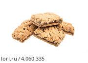 Сладкое печенье, белый фон, фото № 4060335, снято 28 сентября 2012 г. (c) Андрей Старостин / Фотобанк Лори