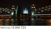 Большеохтинский мост (2010 год). Стоковое фото, фотограф Александр Довгун / Фотобанк Лори
