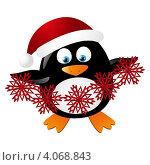 Забавный пингвин. Стоковая иллюстрация, иллюстратор Евгения Малахова / Фотобанк Лори