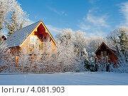 Купить «Зимний день на даче», фото № 4081903, снято 7 декабря 2010 г. (c) Татьяна Кахилл / Фотобанк Лори