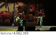 Купить «Танец с элементами боевых искусств. Вечернее африканское шоу в отеле Sueno Hotels Beach Side 5*. Турция. Сиде.», эксклюзивный видеоролик № 4082359, снято 4 декабря 2012 г. (c) Юлия Машкова / Фотобанк Лори