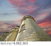 Купить «Башня замка Юссе на фоне вечернего неба, Франция», фото № 4082363, снято 7 мая 2012 г. (c) Владимир Журавлев / Фотобанк Лори