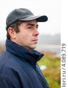 Купить «Портрет мужчины среднего возраста на улице», эксклюзивное фото № 4089719, снято 5 ноября 2012 г. (c) Игорь Низов / Фотобанк Лори