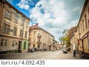 Улица Лычаковская во Львове (2012 год). Редакционное фото, фотограф Loboda Dmitriy / Фотобанк Лори