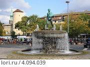 Купить «Фонтан в центре Ганновера», фото № 4094039, снято 12 сентября 2009 г. (c) Борис Кунин / Фотобанк Лори