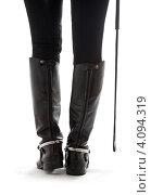 Купить «Женские ноги в кожаных сапогах наездницы с хлыстом», фото № 4094319, снято 3 декабря 2006 г. (c) Syda Productions / Фотобанк Лори