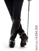 Купить «Женские ноги в кожаных сапогах наездницы с хлыстом», фото № 4094355, снято 3 декабря 2006 г. (c) Syda Productions / Фотобанк Лори